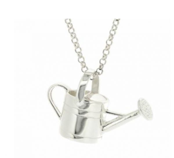 silver watering can pendant