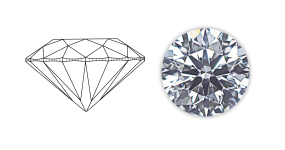 an image of a well cut diamond.