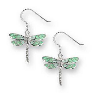 enamel dragonfly earrings