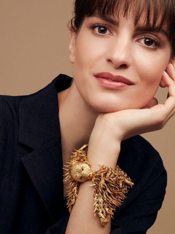 dionysus bear bracelet on model