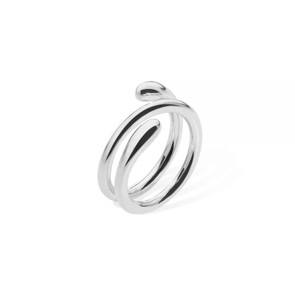 silver coil midi ring