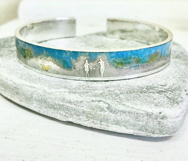 couple & dog bangle