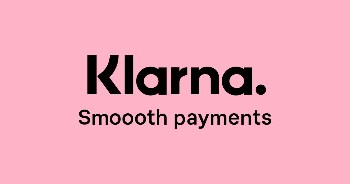 klarna logo on pink