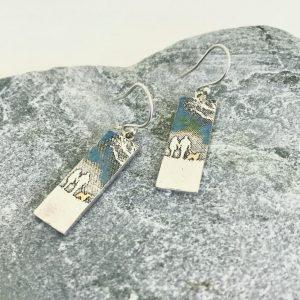 couple & dog earrings