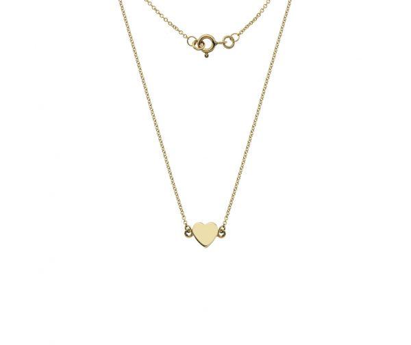 tiny gold heart pendant