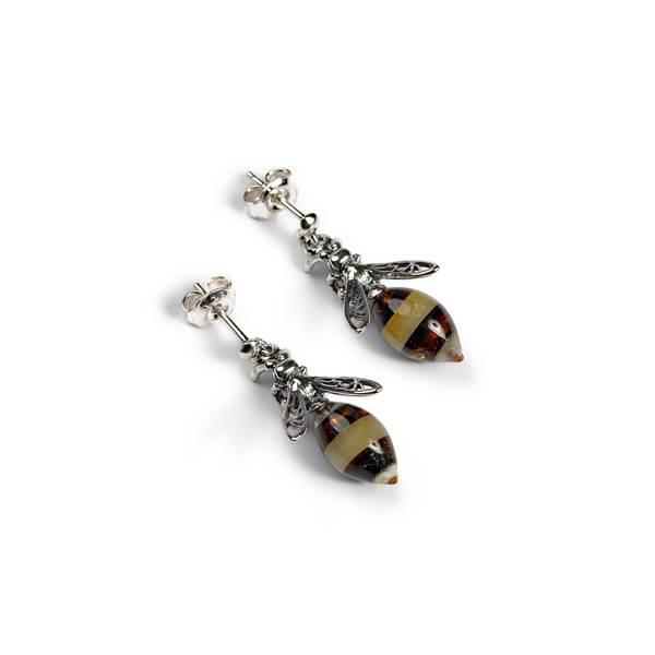 hornet drop earrings