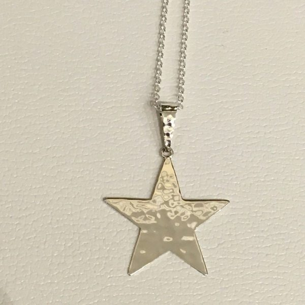 hammered star pendant
