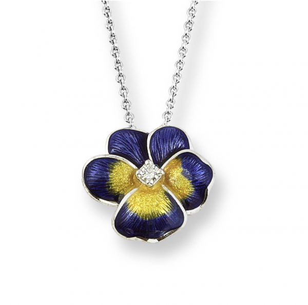 purple pansy pendant