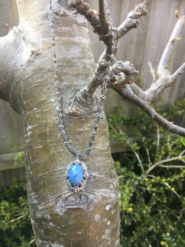 Blue Opal Necklace on Tree