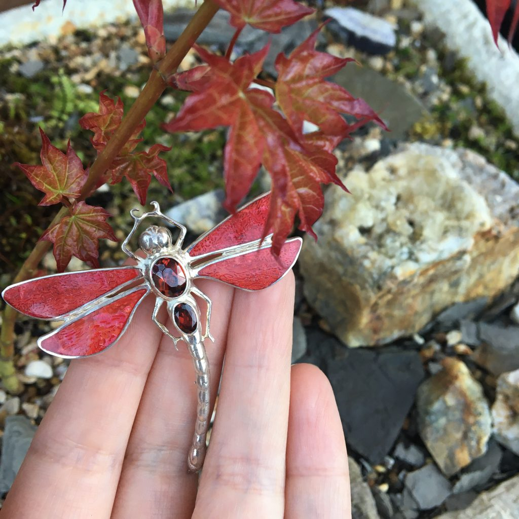 Red Dragonfly Brooch on LJ