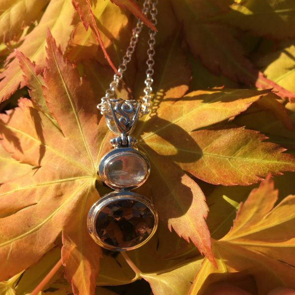 Smoke on the Water Pendant on leaves