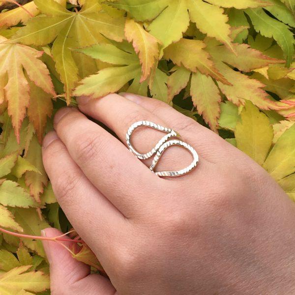 Textured Loop Ring Leaves