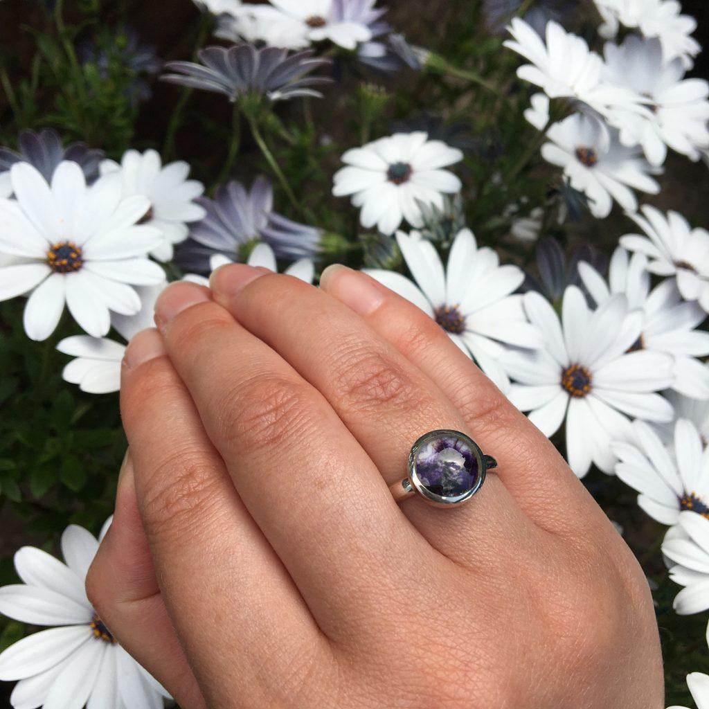 Round Blue John Ring LJ