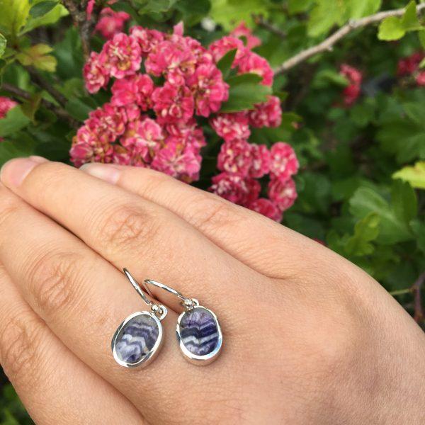 Blue John Oval Earrings on LJ