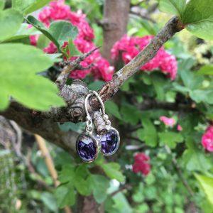 Blue John Oval Earrings Outside