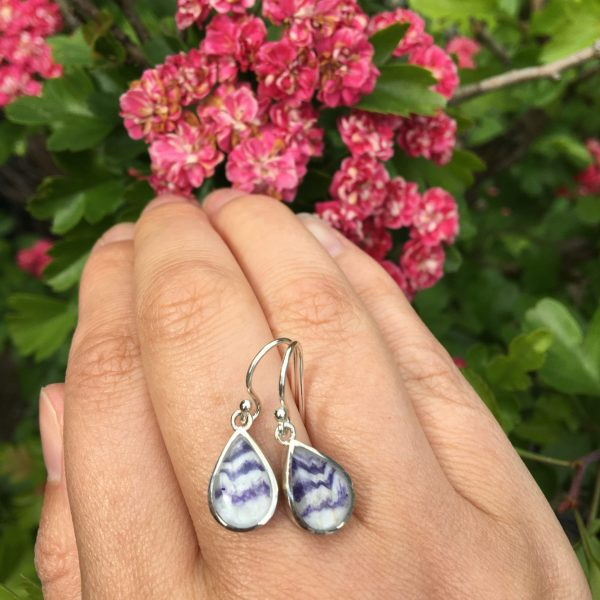 blue john peardrop earrings on LJ