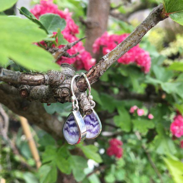 Blue John Peardrop drop earrings