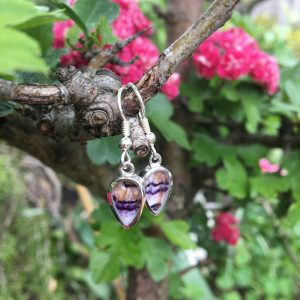 Blue John Droplet Drop Earrings