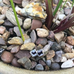 Blue John Mini Square Stud Earrings