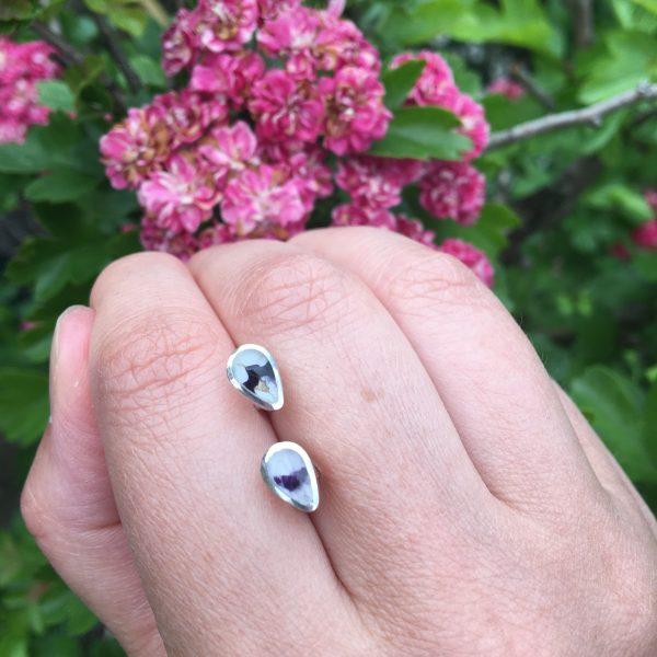 Blue John Peardrop Mini Stud Earrings