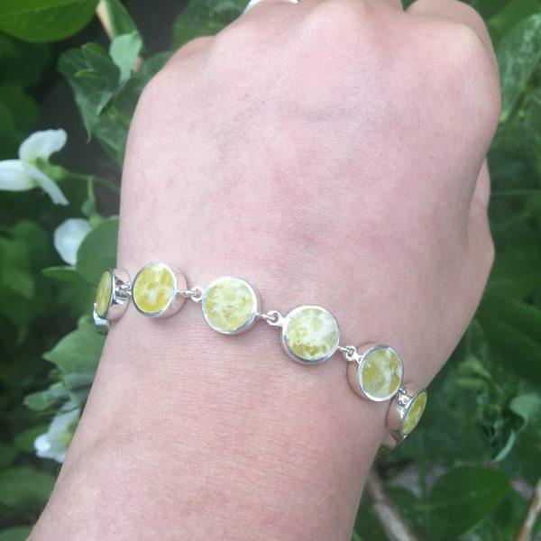 connemara marble round bracelet