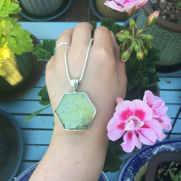 Connemara Marble Hexagonal Fob on LJ