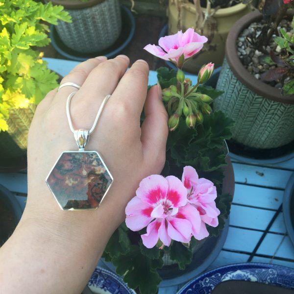 Agate Side Hexagonal Fob on LJ