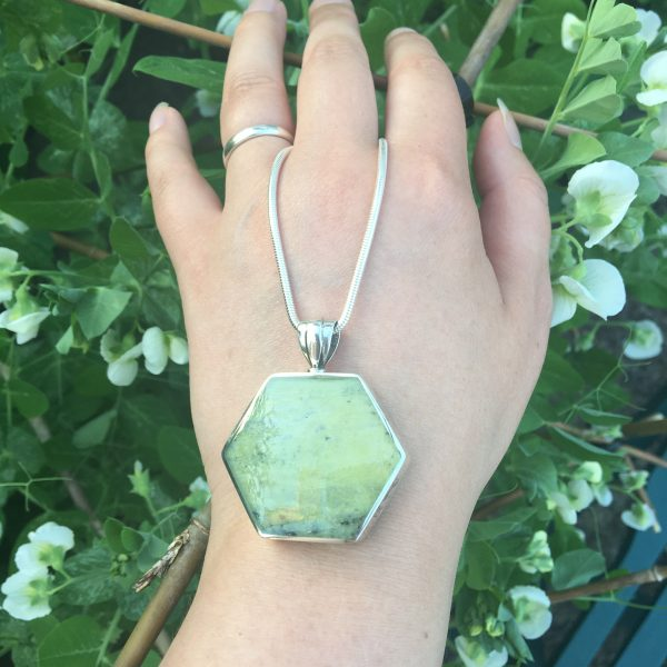 Connemara Marble Hexagonal Fob Close