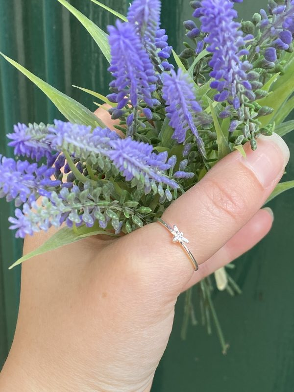 Bee Stacking Ring outside