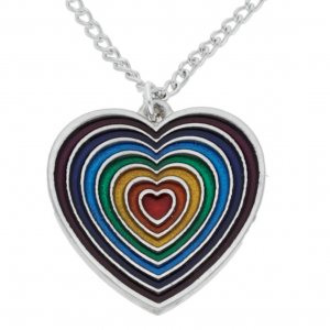 rainbow heart pendant violet outer