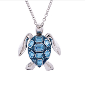Mock Turtle Small Pendant in Blue