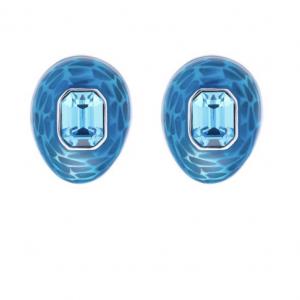 Mock Turtle Small Earrings in Blue