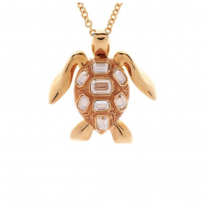 Mock Turtle Small Pendant in Gold