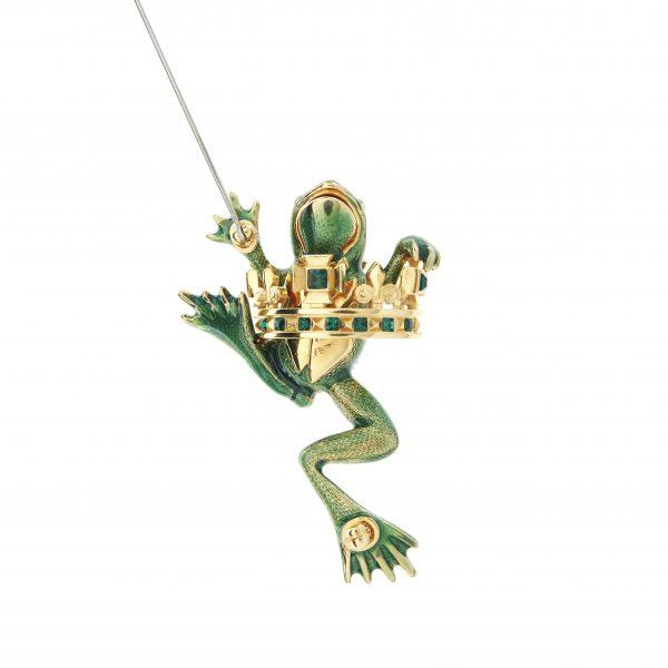 Frog Prince Brooch Reverse