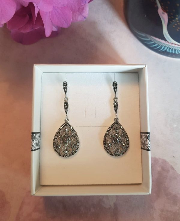 Evening Glamour Marcasite Earrings
