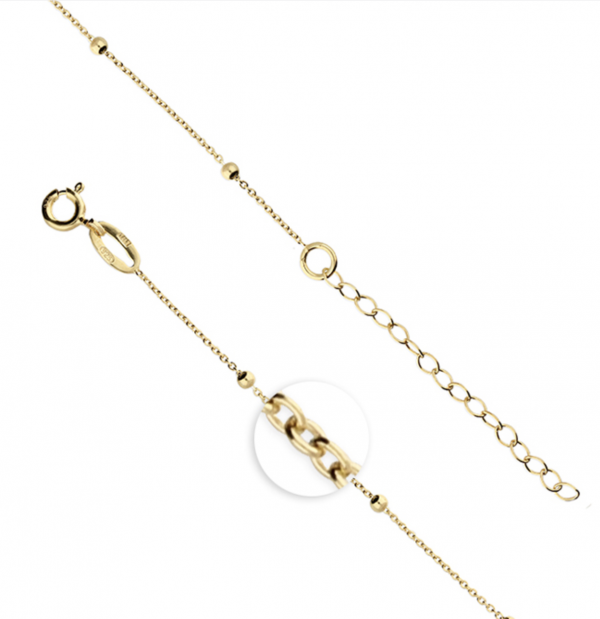 Gold Finish Satellite Chain