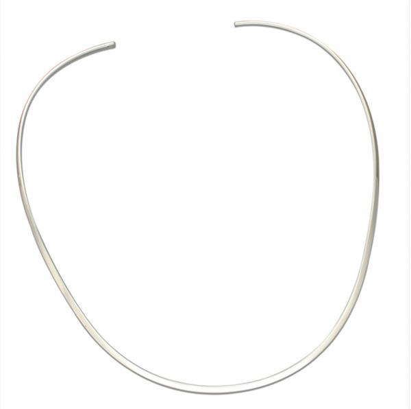 Flat collar on white background