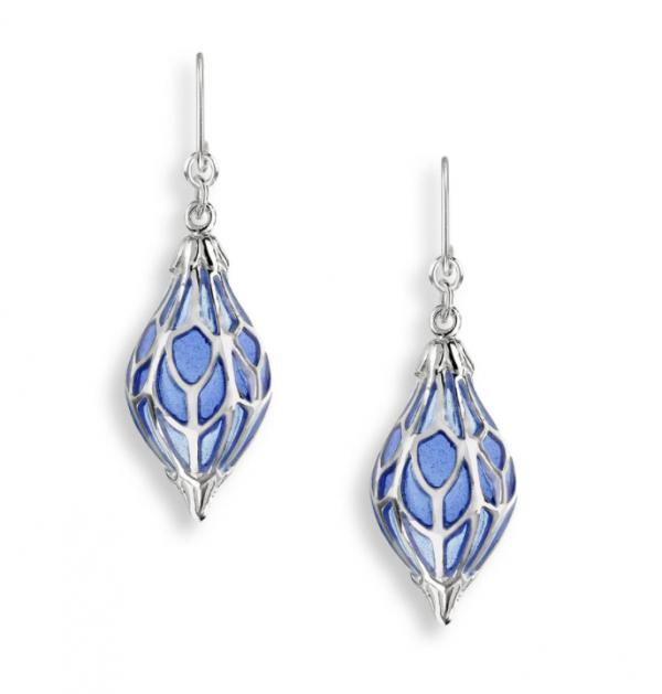 1920s style lantern drop earrings