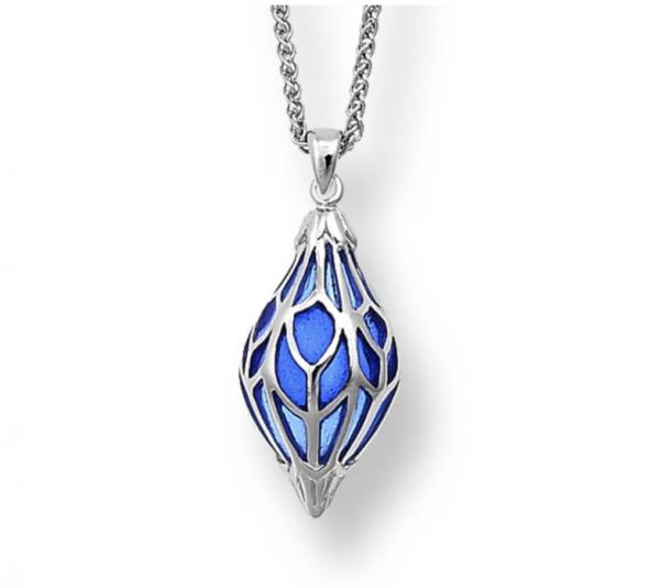 Enamel Lantern Pendant in Blue
