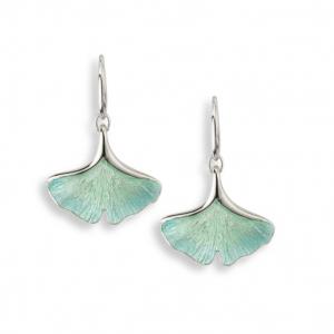 Ginkgo Single Leaf Earrings