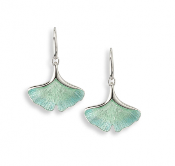 Ginkgo Single Leaf Earrings