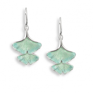 Ginkgo Double Leaf Drop Earrings