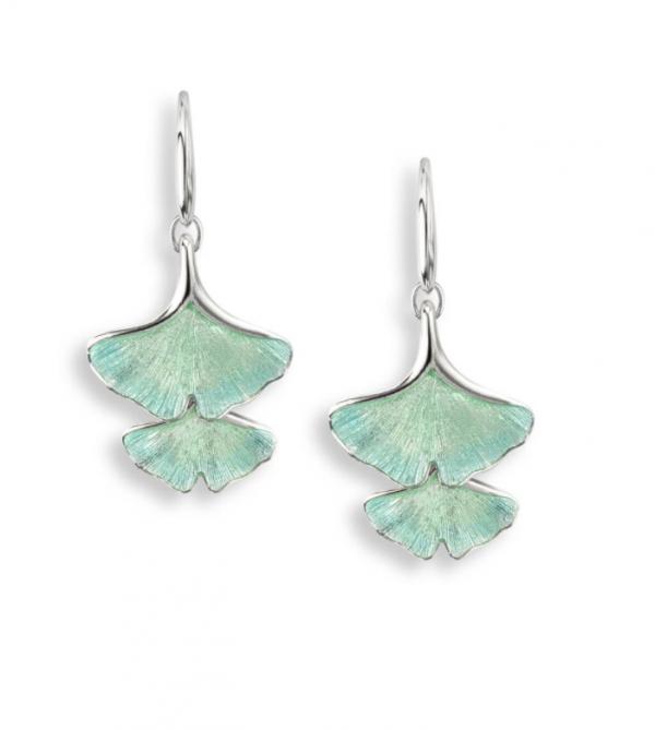 Ginkgo Double Leaf Drop Earrings