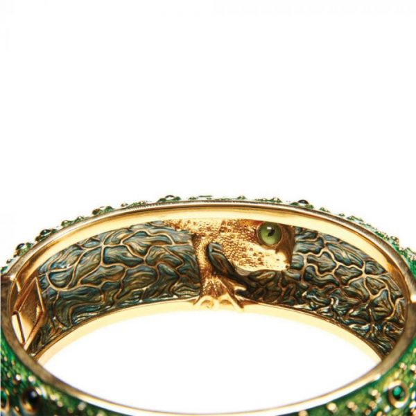 Frog Prince Green Bangle Inside