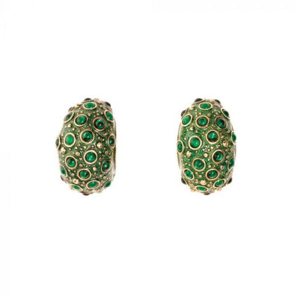 Frog Prince Green Earrings