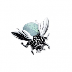 marcasite and opalite bee pendant