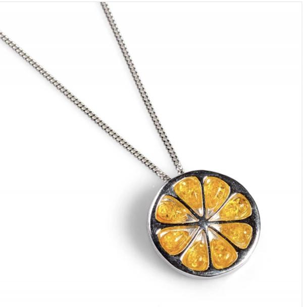 Lemon Amber Pendant