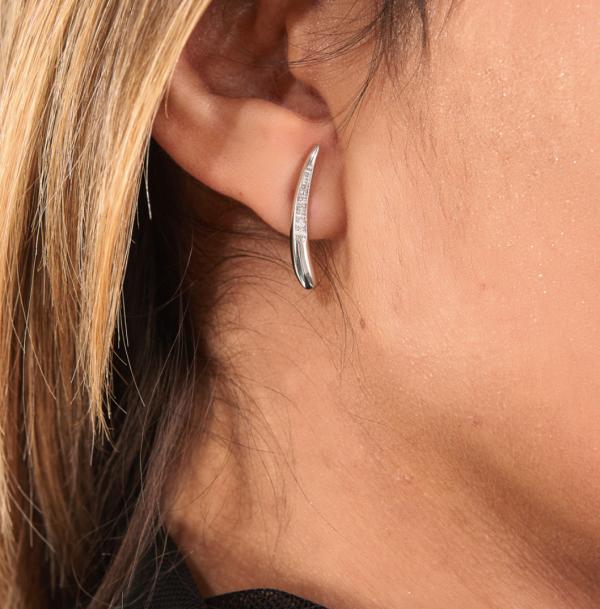 Diamond Drop Stud Earrings