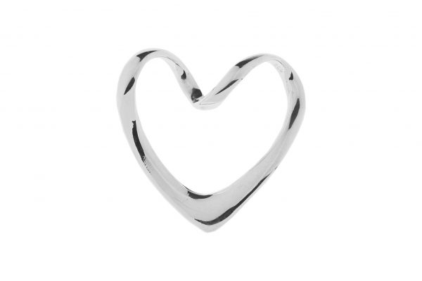 abstract heart pendant product shot