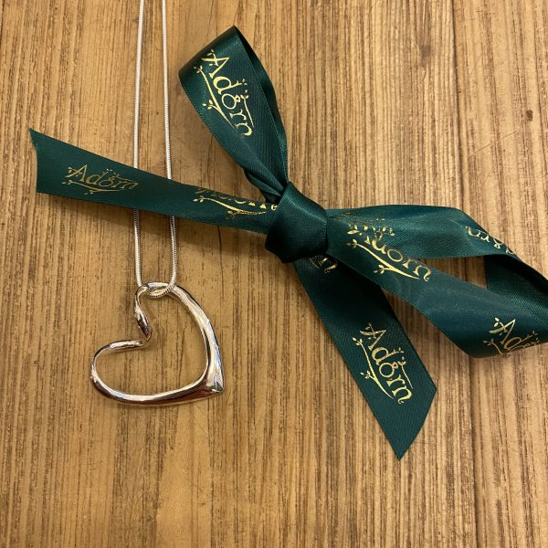 abstract silver heart pendant